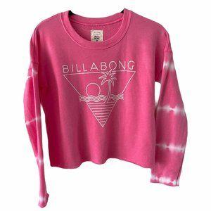 Billabong Girls Pink Tie dye Beach Sweater Large